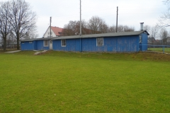 Sicht vom Sportplatz auf unsere Vereinshütte